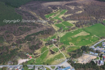Aerial photography Scotland Carrbridge golf course